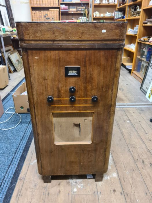 A vintage 1930's A26RG Murphy radio gramophone in polished Art Deco style cabinet (not tested)