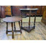 2 x Jaycee oak occasional tables.
