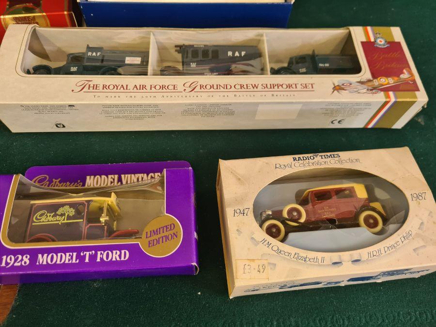 Mixed die cast toys, Lledo Royal Air Force ground crew support set, Corgi Jaguar 1953 RAC rally set, - Image 4 of 4