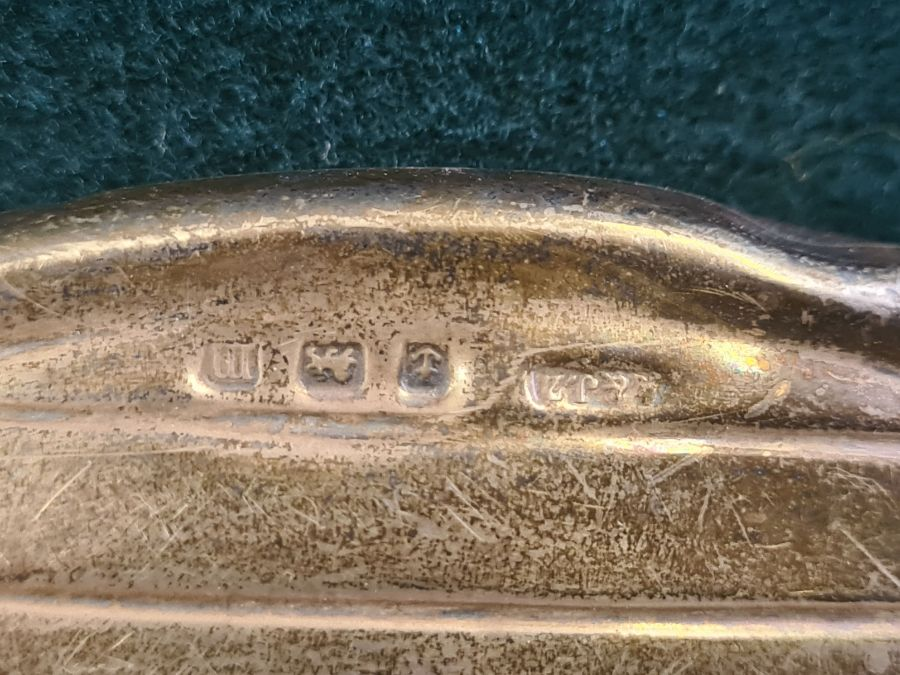 Birmingham silver brush and mirror pair by A.J. Zimmerman Limited. - Image 2 of 3