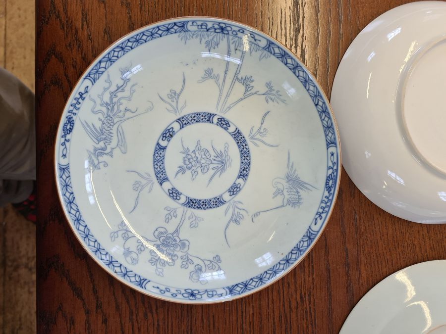 5 x 18th century and later tin glazed and porcelain plates and dishes. - Image 10 of 11