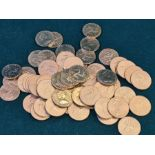 61 x 1996 uncirculated Isle of Man £1 coins.