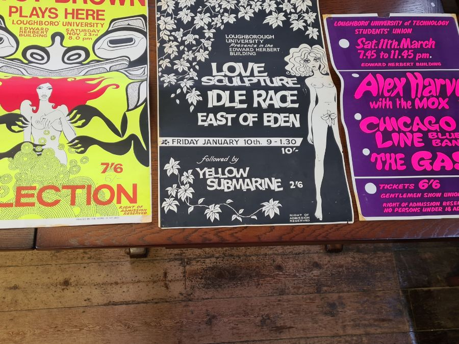 3 x 1960's Loughborough University concert posters. - Image 2 of 6