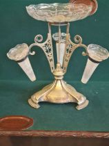 """An EPNS Walker & Hall epergne table centrepiece 15"""" tall."""