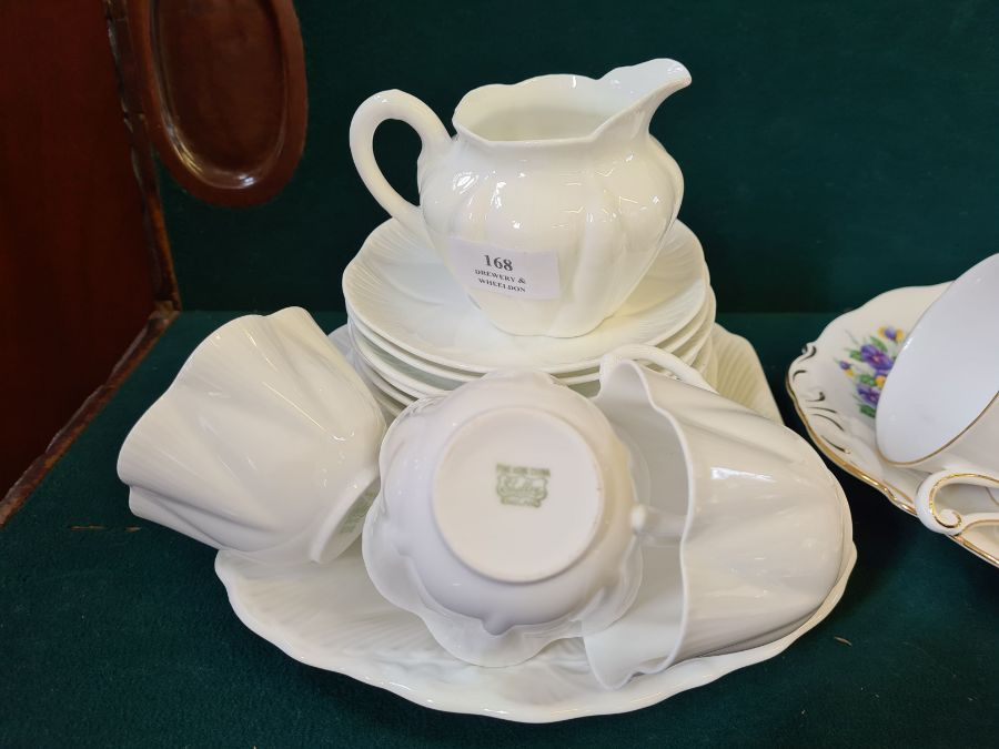 Shelley creamware part tea service, Queen Ann Country Garden floral tea service and a pair of Burley - Image 2 of 6