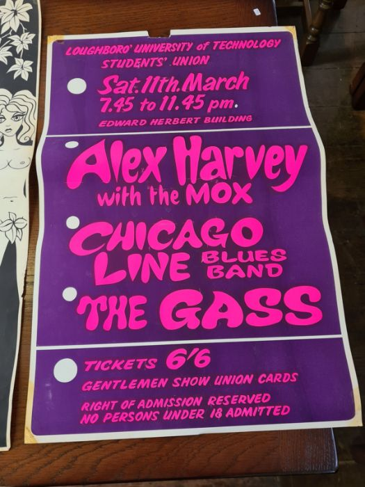 3 x 1960's Loughborough University concert posters. - Image 5 of 6