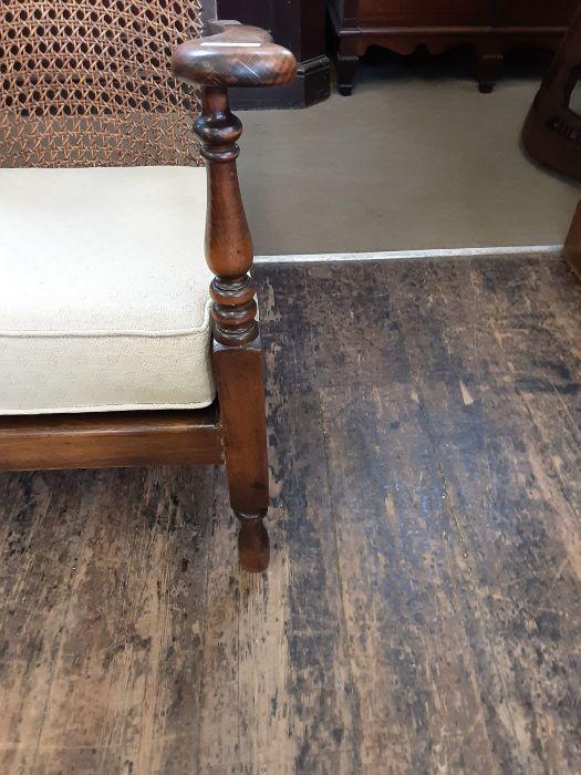 1920's begere back polished beechwood bedroom armchair. - Image 3 of 5