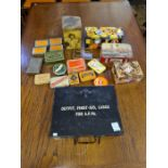 A WWII army armoured fighting vehicle, first aid kit and contents together with a small collection