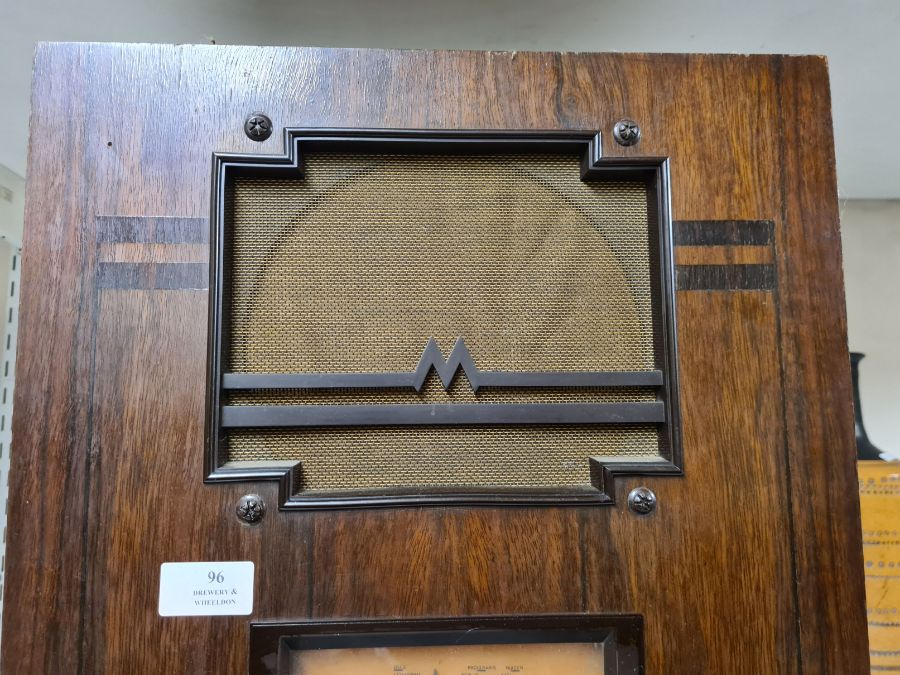 1934 Marconi No. 257 radio in walnut Art Deco style case. - Image 2 of 4