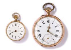 Zwei Taschenuhren Um 1900