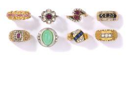 Sammlung von acht Ringen