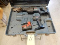 BOSCH CORDLESS SAWZALL W/FLASHLIGHT & CASE
