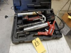 LOT MISC. AIR, ELECTRIC & MANUAL GREASE GUNS