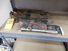 LOT MISC. TOOLS TO INCLUDE - (2) MANUAL PIPE VISES, TUBING CUTTERS, CHAIN WRENCH, ETC.