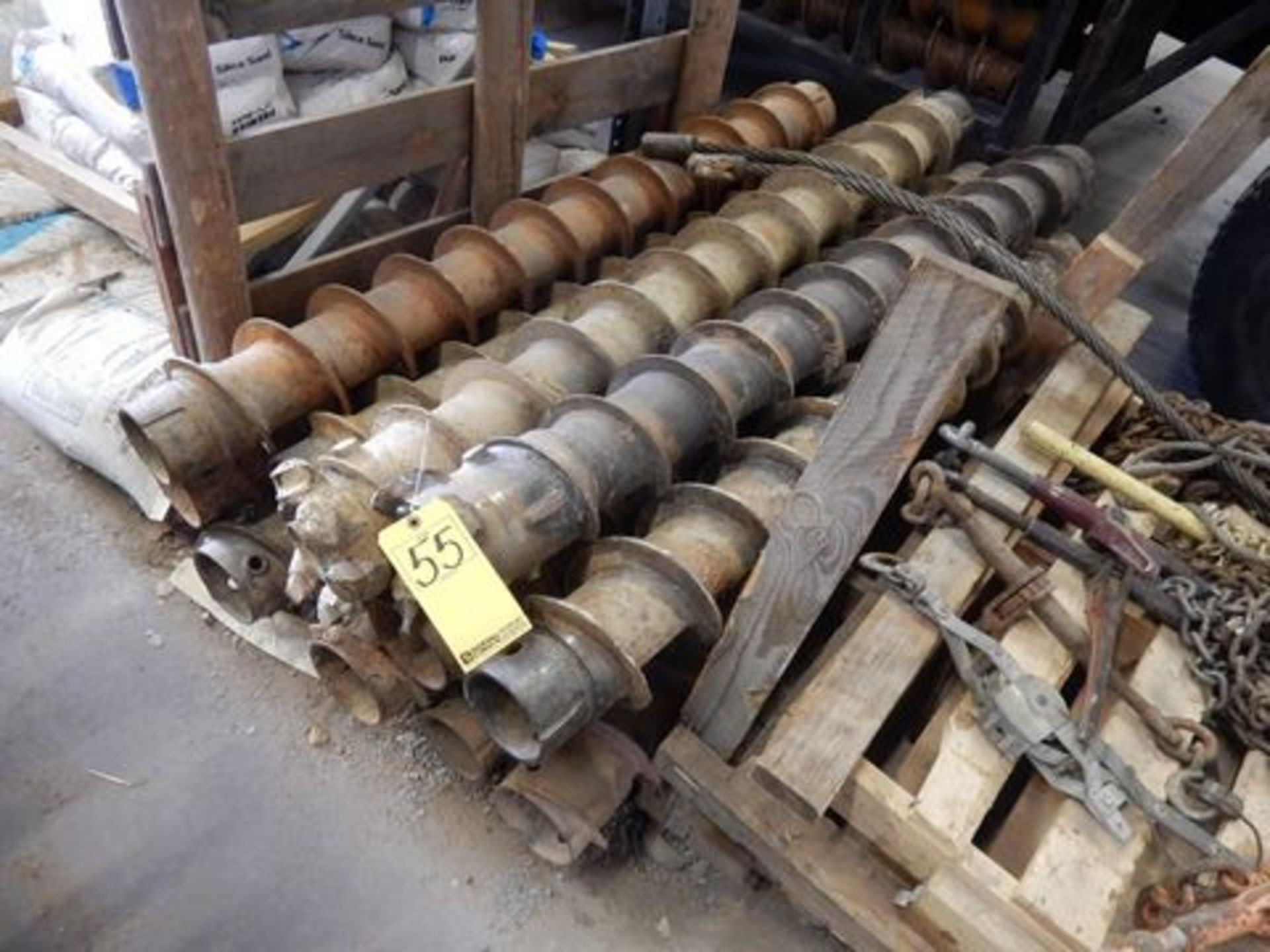 "LOT (14) 4.25"" X 5' HOLLOW STEM AUGERS"