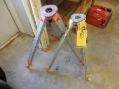 LOT (2) TRIPOD TRANSIT LEVEL STANDS
