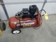 COLEMAN POWERMATE PORT. AIR COMPRESSOR, 4 HP, 20 GAL. TANK, ELEC.