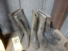 LOT RUBBER BOOTS