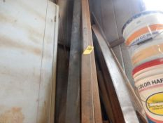 LOT ITEMS IN CORNER TO INCLUDE: MISC. STEEL TUBING, FLAT BAR, ETC.
