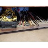 LOT SHOVEL, PIPES, EXT. CORDS, ROPE