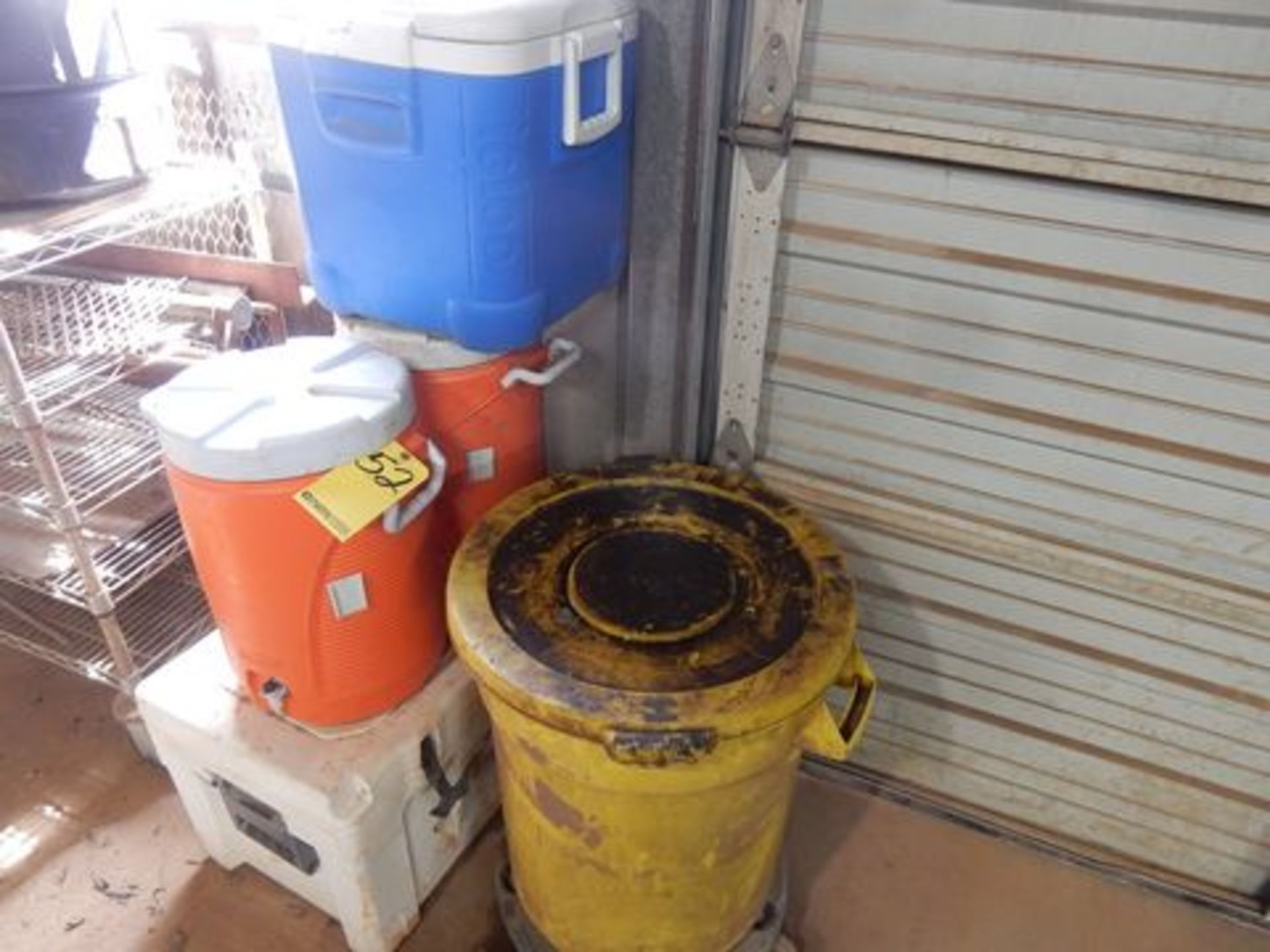 LOT ICE CHESTS & WATER JUGS
