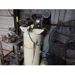 INGERSOLL RAND UPRIGHT AIR COMPRESSOR, M# 2340, S/N 1007963, 5 H.P. 60 GAL. CAP.