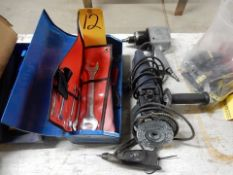 """TOOLBOX & 4"""" RIGHT ANGLE GRINDER"""