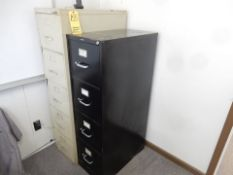 LOT REMAINING CONTENTS OF (2) ROOMS - (2) FILE CABINETS, WOOD BOOK SHELF, CHAIR