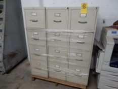 LOT (3) 4-DRAWER VERT. FILES