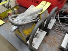 LOT LIFTING MAGNET (IN NEED OF REPAIR), & (2) HAND MAGNETS