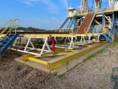 2015 KAT INDUSTRIES CUSTOM-BUILT 240' LONG RIG SKIDDING SYSTEM, CATWALK & PIPE RACKS