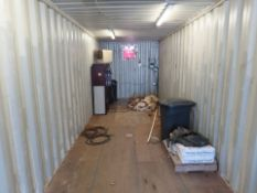 PARTS HOUSE, 8' X 40' STORAGE CONTAINER, w/CONTENTS