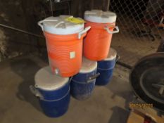LOT (5) WATER COOLERS