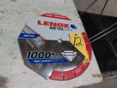 "NEW LENOX METAL MAX 14"" DIAMOND BLADE"