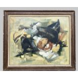 BORDEAUX LE PECQ Andrée (1911-1973). Coquillages exotiques. Huile sur toile. Signée en bas vers la