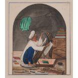Le relieur au kitabkhaneh, Inde du Nord, Penjab, vers 1860-80