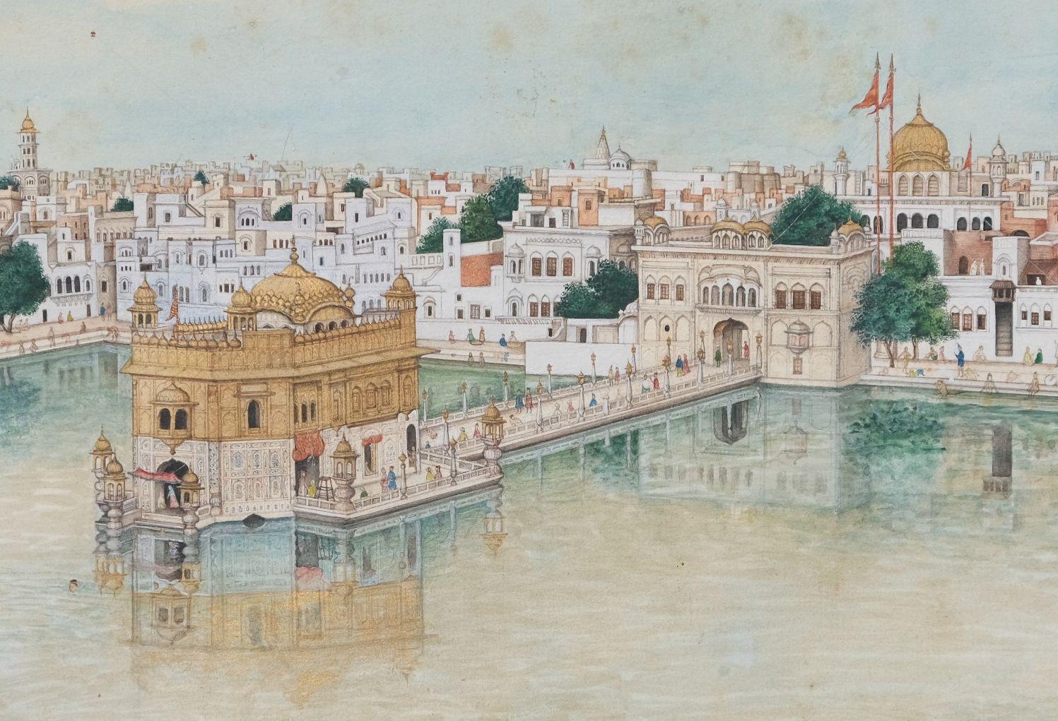 Scènes de vie au Harmandir Sahib, le Temple d'Or d'Amritsar Inde du nord, Penjab, Amritsar - Image 2 of 9