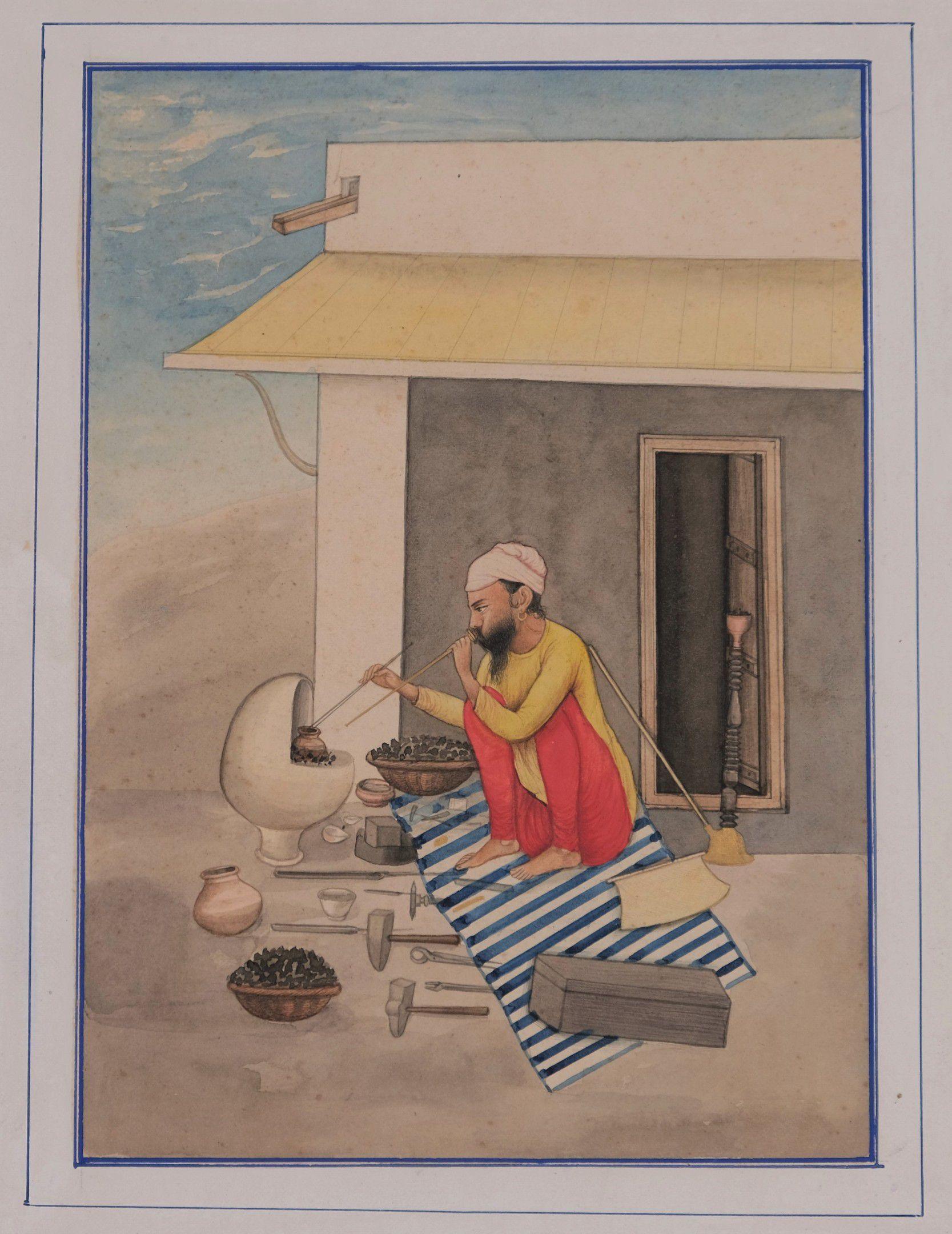 Le dinandier, Inde du Nord, Penjab, vers 1860-80