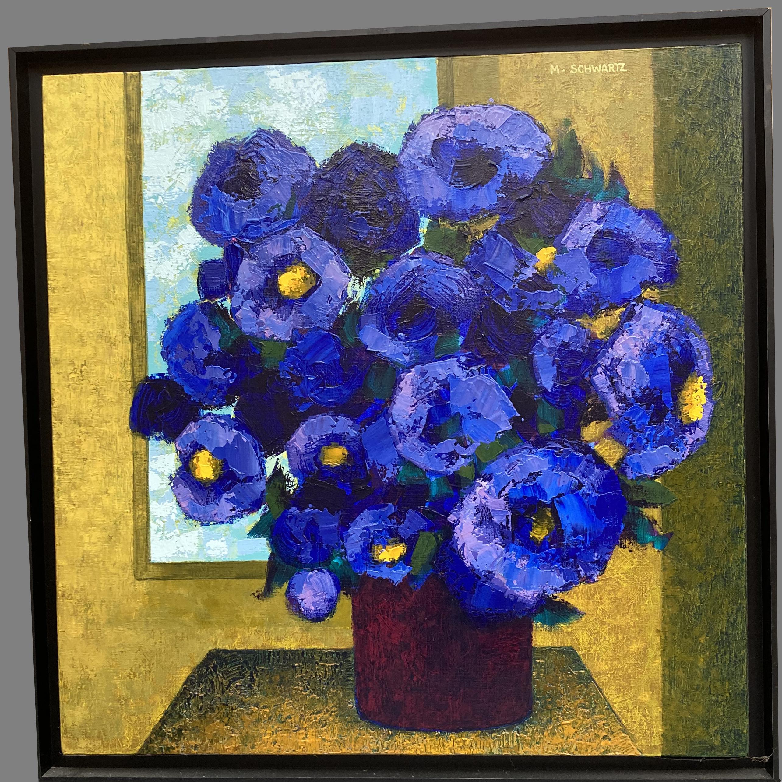 SCHWARTZ Michel (Audincourt, 1938 - Luxeuil-les-Bains, 2020). Vase de fleurs. Huile sur toile.