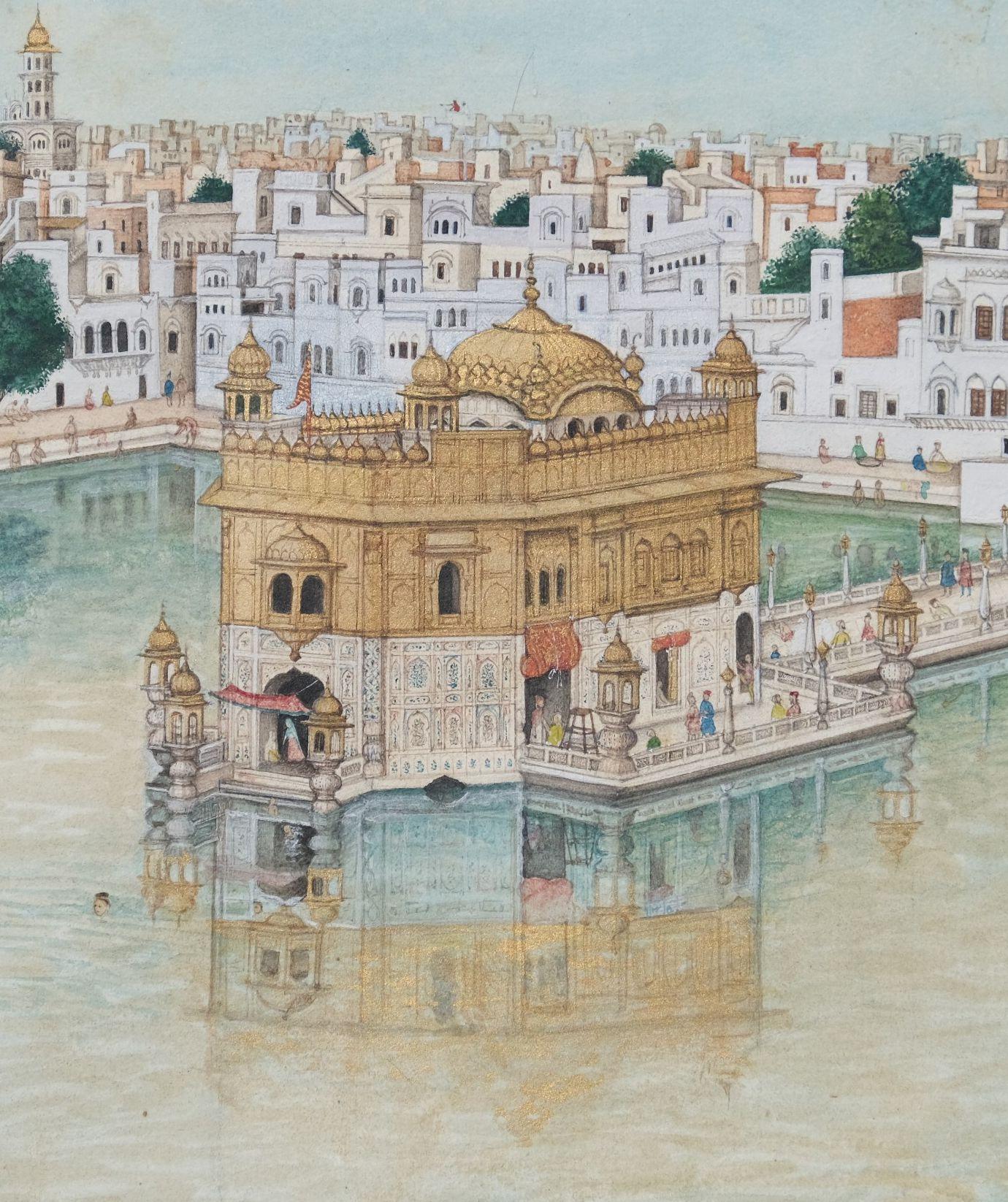 Scènes de vie au Harmandir Sahib, le Temple d'Or d'Amritsar Inde du nord, Penjab, Amritsar - Image 3 of 9