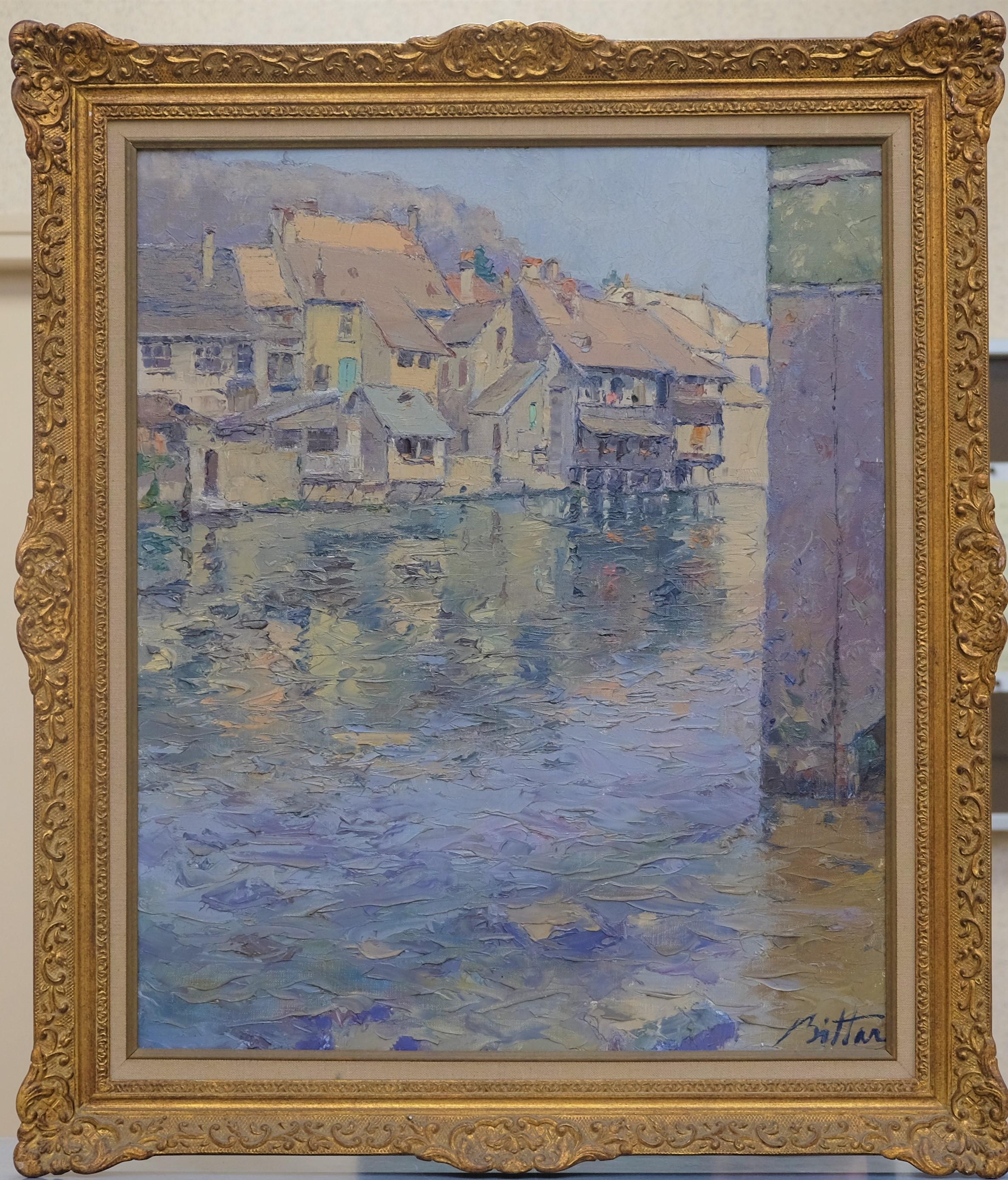 BITTAR Pierre (né en 1934). Ornans. Huile sur toile. Signée en bas à droite. 65 X 54.