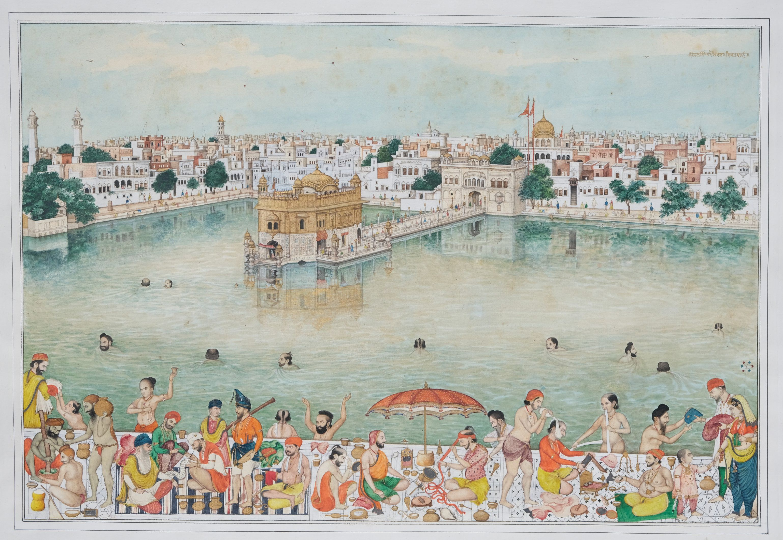 Scènes de vie au Harmandir Sahib, le Temple d'Or d'Amritsar Inde du nord, Penjab, Amritsar