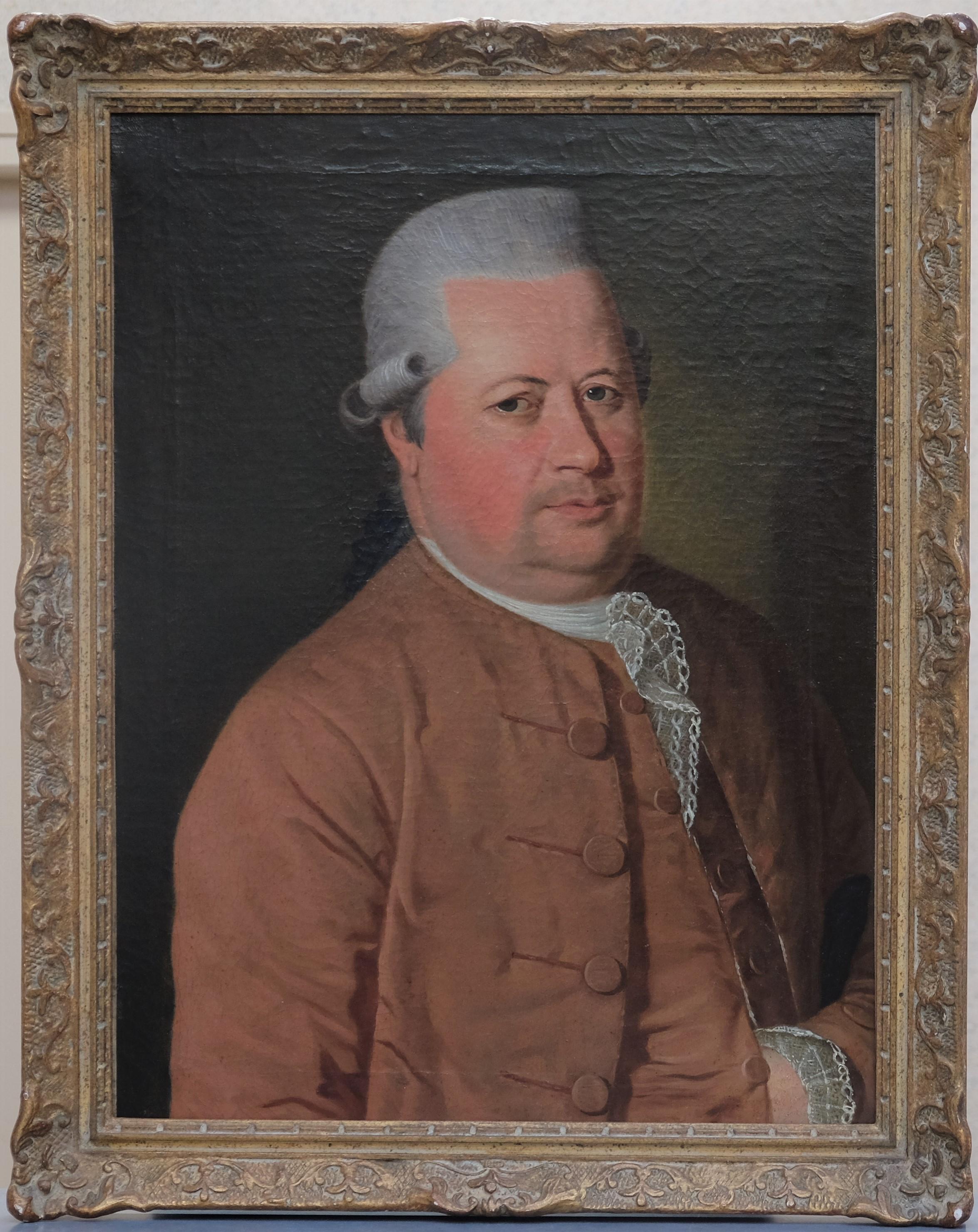 Fin XVIIIe. Portrait d'homme. Huile sur toile. Non signée. 65 X 48.