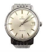 Omega Geneve Seamaster gentleman's stainless steel bracelet wristwatch, with date aperture, boxed