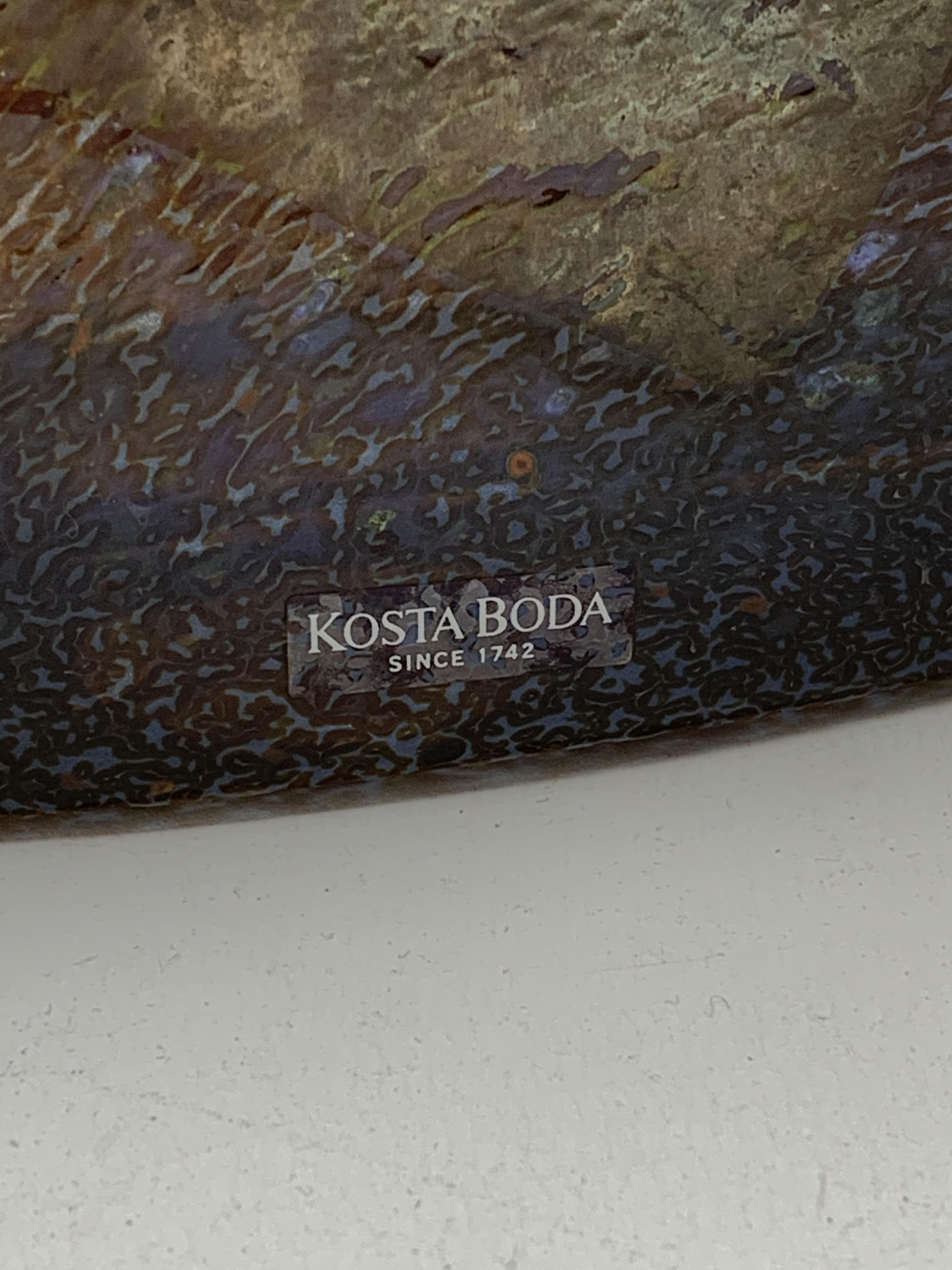 Bertil Vallien - Kosta Boda, satellite glass vase of compressed square form with bottle neck, with - Image 5 of 7
