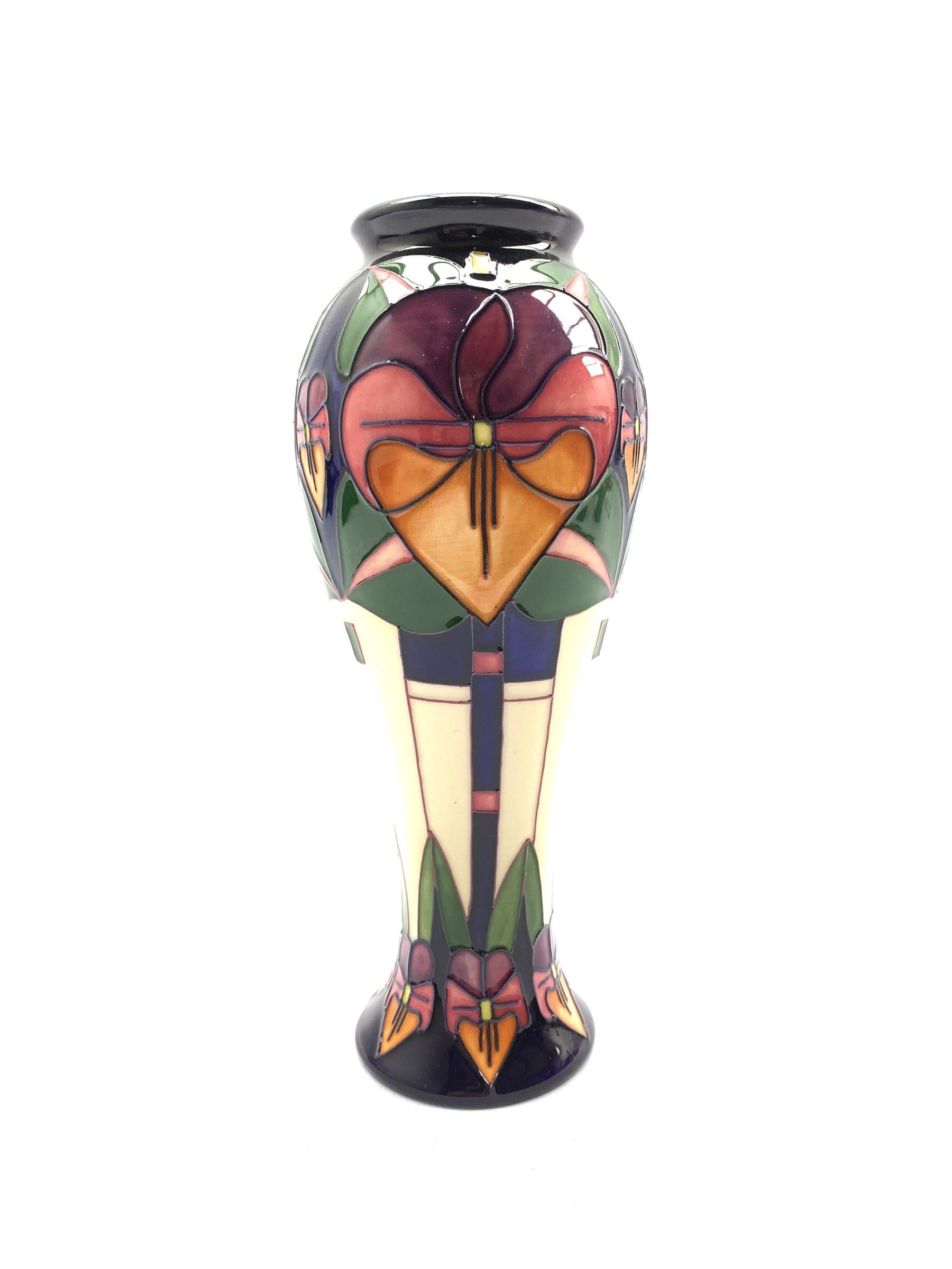 Moorcroft Trilogy pattern vase designed by Rachel Bishop, 2006 H22cm