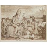 Thomas Rowlandson (British 1756-1827): 'John Bull's Turnpike Gate'