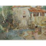 After Sir William Russell Flint (Scottish 1880-1969): 'The Mill Pool, St Jean de Cole', limited edit