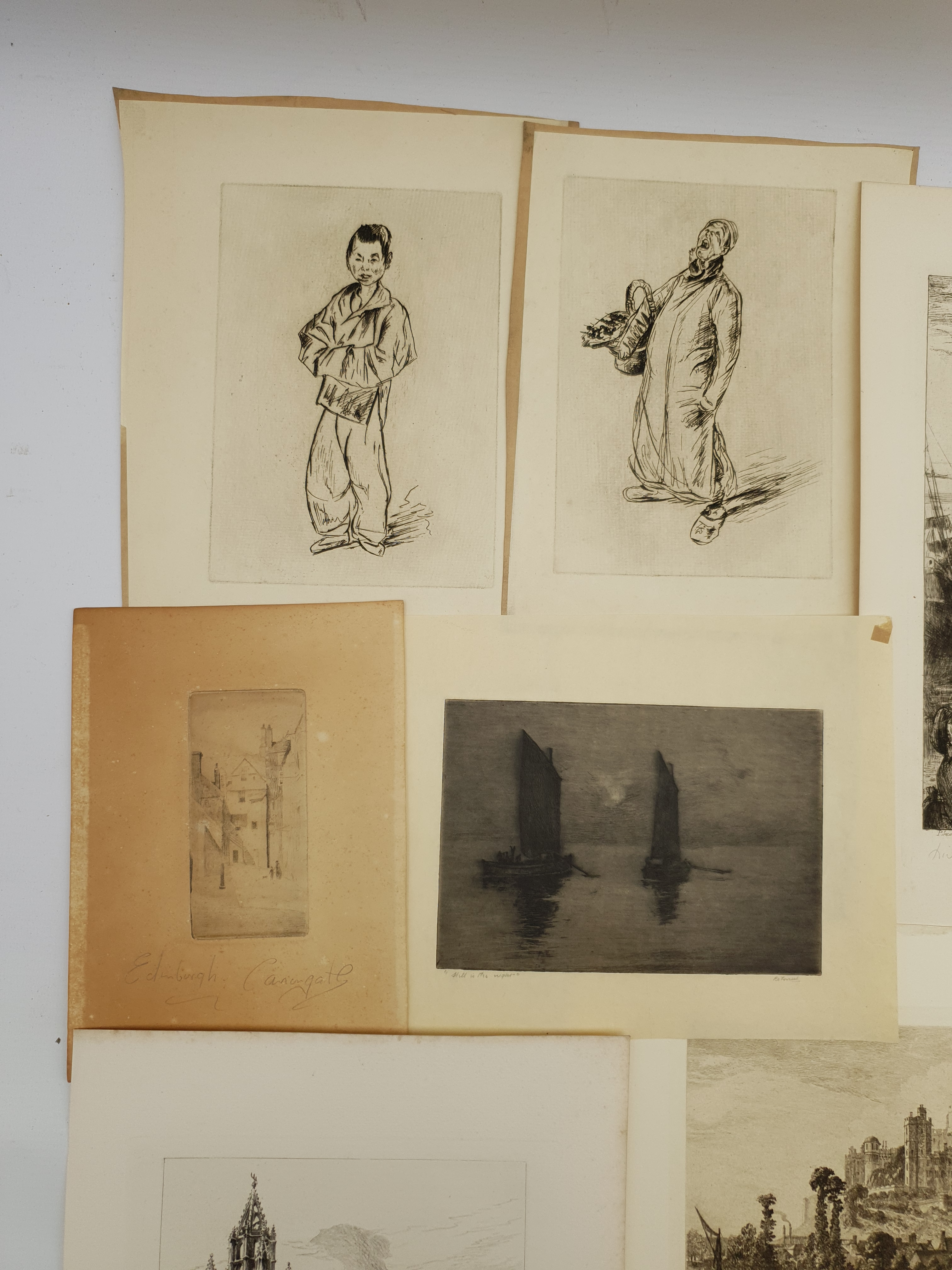 Collection of 19th/early 20th century etchings and engravings including 'Edinburgh Castlegate', 'St - Image 3 of 5