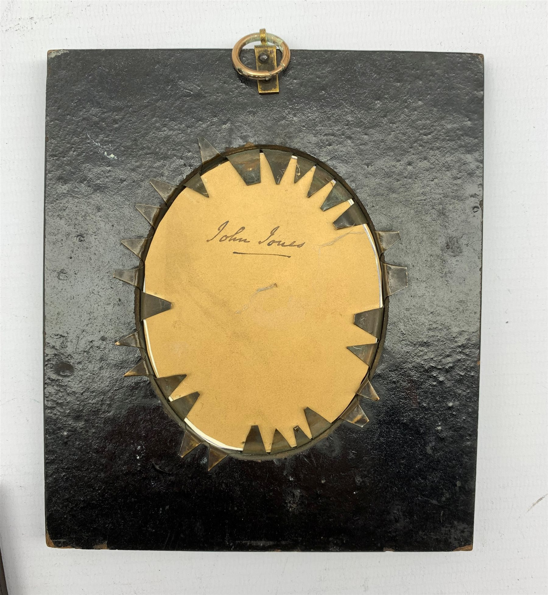 19th Century silhouette profile portrait of a gentleman with gilt highlights and inscribed to the re - Image 2 of 3